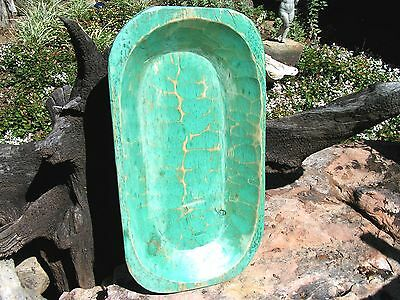 Wooden Dough Bowl Hand Carved farmhouse Bread Trencher Made in USA 0031