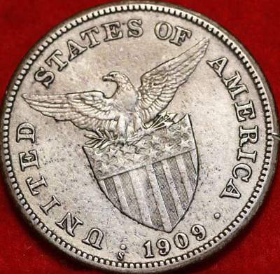 1909-S Philippines One Peso Silver Foreign Coin Free S/H
