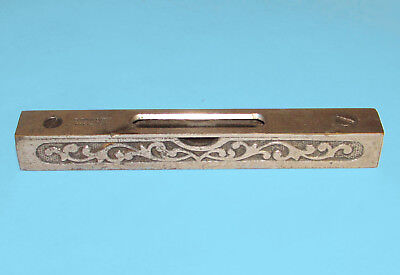 Antique Ornate Stanley Cast Iron Level Pat. 6-23-1896