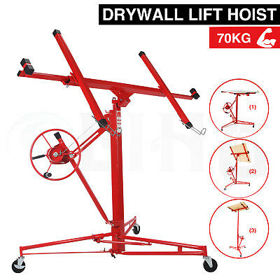 Heavy Duty 11FT Lift/Lifter Tool Drywall Hoist Caster Plaster Board Panel Sheet