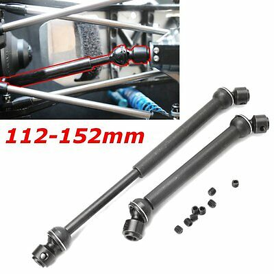 1 Pair Heavy Duty Steel Drive Shaft 112mm to 152mm for Wraith 1/10 Axial SCX10