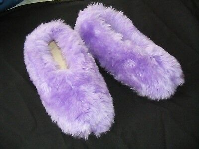 Vintage Fuzzy Furry Shag Bedroom Slippers House Shoes