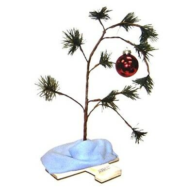 ProductWorks 18-Inch Peanuts Charlie Brown Christmas Tree with Linus Blanket
