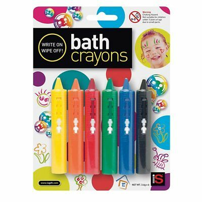 NEW iS Gift Bath Crayons - Non Toxic - Set 6 - Fun in the bath or shower!