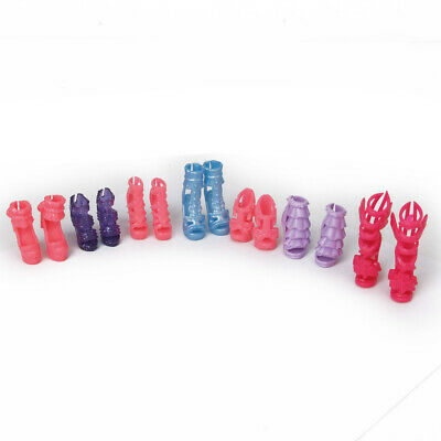 7 Pair High Heels Shoes sandals For Barbie Doll Clothes Accesories Xmas Gift