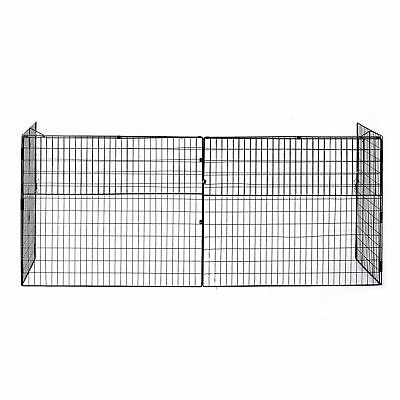 HOMCOM Hearth Safety Gate Guard Fireplace Protection Barrier Screen Black