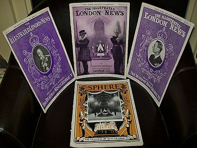 4x KING GEORGE V & VI SPECIAL EDITIONS 'THE ILLUSTRATED LONDON NEWS',ETC 1936/52