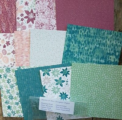 Stampin up 6×6 paper share Blooms and Bliss 12 sheets