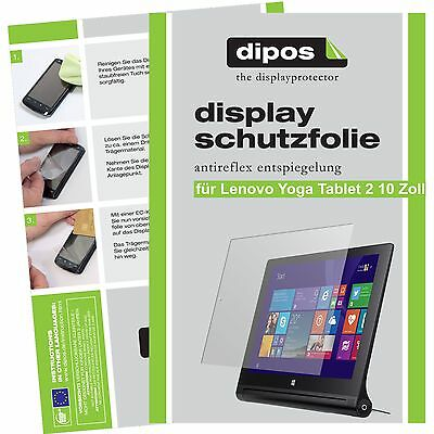2x dipos Lenovo Yoga Tablet 2 10.1 matt Displayschutzfolie Antireflex Testsieger