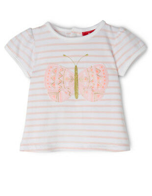 NEW Sprout Applique Cap Sleeve Top - Butterfly/Pink Stripe Lt Pink