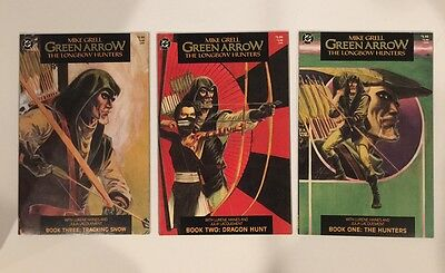 Green Arrow Longbow Hunters #1-3 + Shado #1-4 Complete Sets / Mike Grell Dc