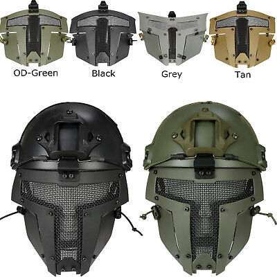 Sparta Tactical Airsoft Paintball SPT Mesh Full Face Mask Helmet Mask CB Quality