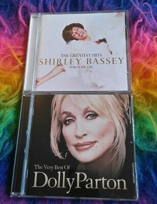 2x CD ALBUM DOLLY PARTON VERY BEST OF & SHIRLEY BASSEY GREATEST HITS