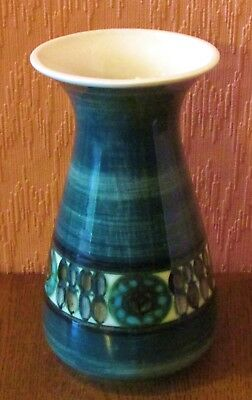 "Jersey Pottery 8"" Blue / Green Hand-painted Vase"
