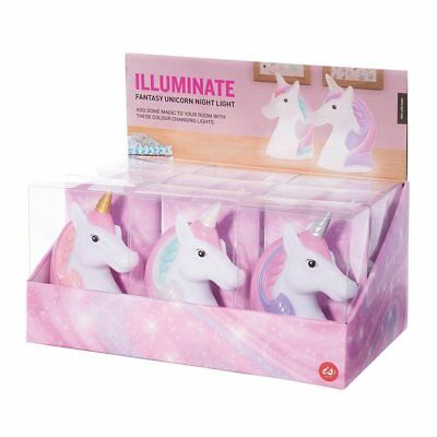 NEW Illuminate Colour Changing LED UNICORN Lamp Childrens Night Light