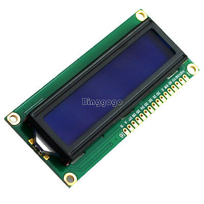 1602 16x2 Character LCD Display Module HD44780 Controller Blue Blacklight NEW