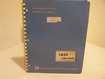 Tektronix Time Base 7B50 Instruction Manual