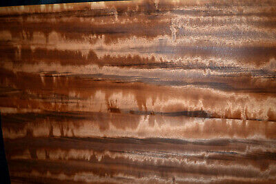Tigerwood Raw Wood Veneer Sheets 7 x 22 inches 1/42nd                   c6602-46