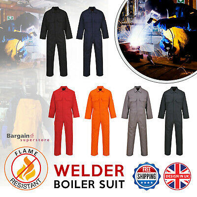 Portwest Bizweld Flame Resistant Coverall Welding Boiler Suit Overall S-6XL BIZ1
