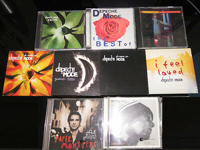 Depeche Mode Lot CD Single Bundle Collection Rare DVD Best Singles Dream On