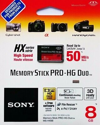 Sony Memory Stick Pro Duo Karte 4GB/8GB/16GB/32GB Memory Stick Pro Duo Adapter