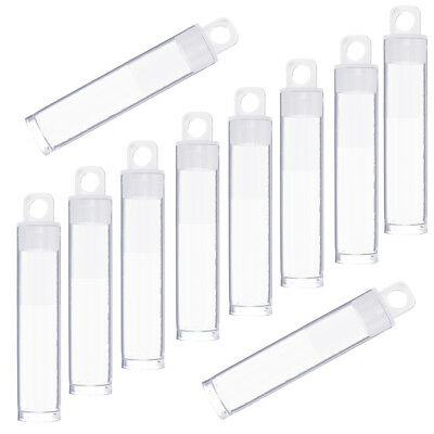 60x14mm Plastic Hangable Tubes Seed Bead Containers Pack of 10 (G61/2)