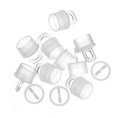 Plastic Caps for Hangable Seed Bead Tubes - 14mm Pack of 12 (G61/5)