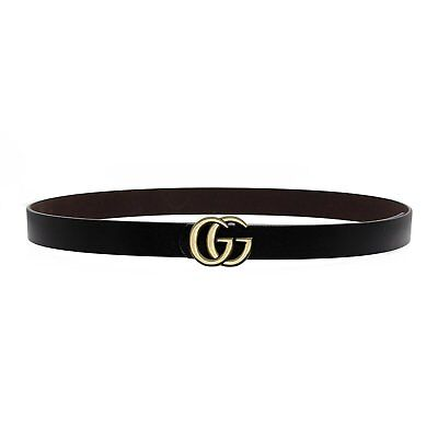 """GG""  Womens Genuine Leather Thin Belts For Jeans 0.9 Belt For Womens Pants New"