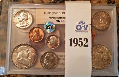1952 ANACS Certified and OSV Verified Double Mint Set - PRICED RIGHT