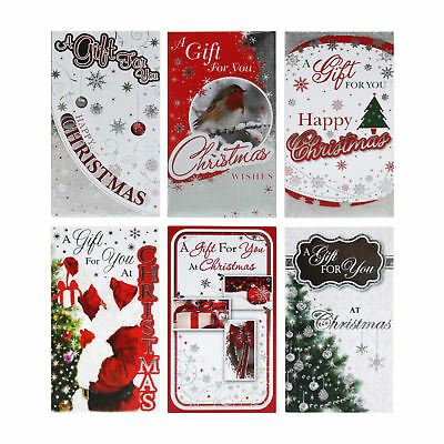 6 Traditional Assorted Christmas Self-Sealing Money Wallet Gift Envelopes -38322