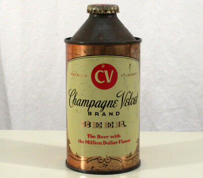 Champagne Velvet Cone Top Beer Can+Ky Tax Bottle Cap Terre Haute, Indiana Cv Ind