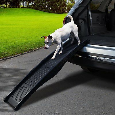 Foldable Dog Pet Ramp Car Truck SUV Boat Climb Backseat Stair Step Auto Ladder