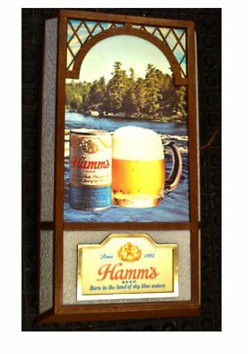 Vintage HAMMS BEER Light USA Made Excellent Condition No Reserve