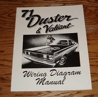 1971 plymouth duster & valiant wiring diagram manual 71