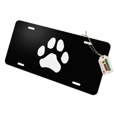 Kawaii Cute Cat Scratching Wall Novelty Metal Vanity Tag License Plate