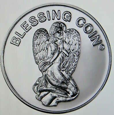 Blessing Angels Pocket Token Lucky Coin Pewter Inspirational NIP Protect Path