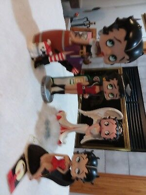 4 Betty Boop Bobbleheads Lot. Great for the Collector!