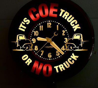"A 22"" COE truck or NO truck. Neon clock. by Curtis"