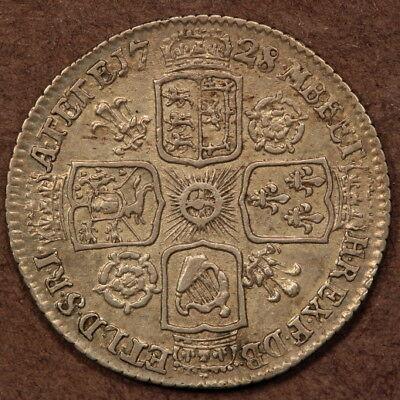 Great Britain Sixpence 1728 Silver ChVF+