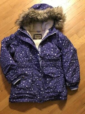 Lands' End Girls 600 Fill Down Coat with Fur Hood Size 7-8; Mint with Tags