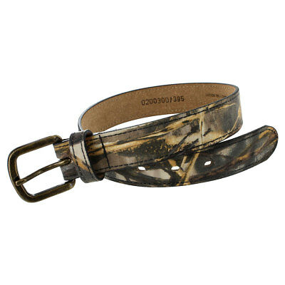 Youth Cotton Twill Camo Belt with Brass Buckle