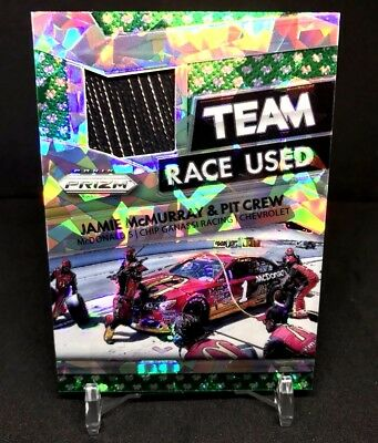 Jamie Mcmurray 2016 Panini Prizm Refractor 2-Color Race Used Patch Jersey124/149