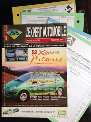 Rta Revue Technique Expert Automobile Citroën Xsara Picasso N°388 Septembre 2000