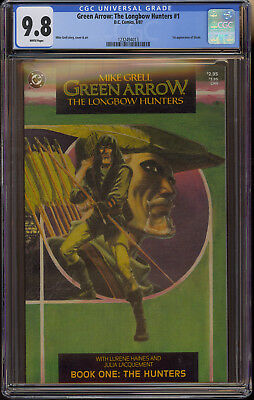 Green Arrow: Longbow Hunters #1 CGC 9.8 NM/M White Pages 1st App Shado DC 1987