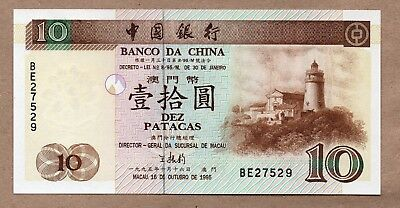 Macau - Banco Da China - 10 Patacas - 16.10.1985 - P90 - Uncirculated