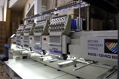 Brother BES-1240BC 4-head, 12-needle industrial embroidery machine