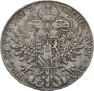 Lanz Rdr Habsburg Maria Theresia Taler 1780 Wien Madonna Doppeladler Ar ±Ask645