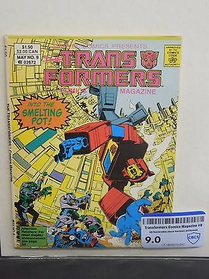 Marvel Comics Transformers Comics Magazine #9 1987 - Cbcs Raw Grade 9.0