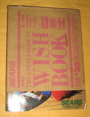 Vintage Wish Book Sears 1992,Christmas Catalog,Complete,Games,Toy, Sports