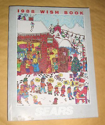 Vintage Wish Book Sears 1988,Christmas Catalog,Complete,Games,Sports,Toys,List